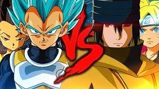 Vegeta e Kyabe VS. Sasuke e Boruto | Combate de Rimas | Part. Duelista, Lukas e Enygma