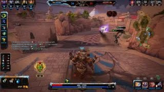 SMITE 4vs5 dive fail with hot med