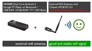 Improving MK808B wifi signal with cheap external antenna.