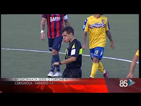 Cerignola Taranto 1-1 La sintesi di Canale 85