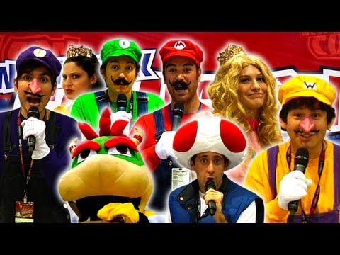 Super Mario Characters Invade New York Comic Con 2011!