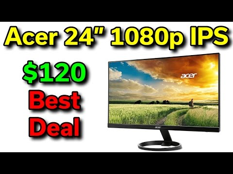 """Acer 24"""" 1080p Monitor - $120 - Best Deal"""