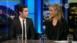 The Lucky One - Zac Efron & Taylor Schilling interview - The Lucky One - The Project (2012)
