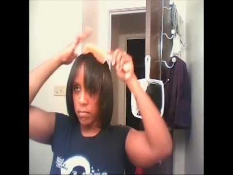 Dry Saran Wrap Treatment Flat Ironed Hair Tutorial How