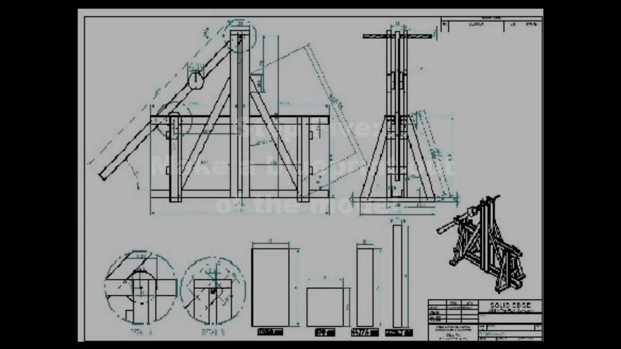 Mini Floating Arm Trebuchet Plans