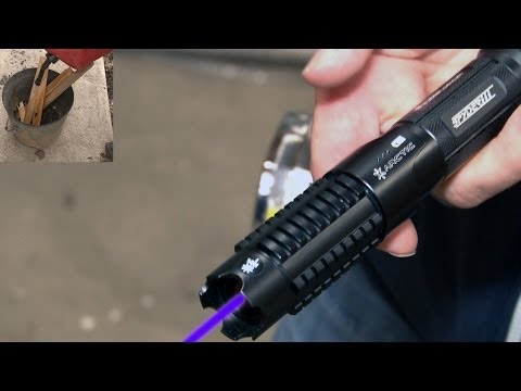 World's Most Powerful Handheld Laser - Starts A Fire