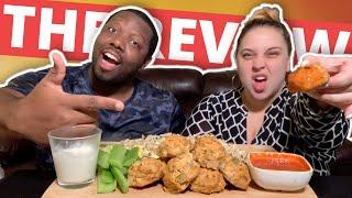 Buffalo Chicken Meatballs Mukbang & Review [Low Carb]