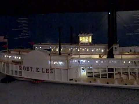 Paddle Steamer - Robert E. Lee Model fully lit with LED's and Fibre optics.