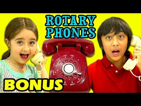 KIDS REACT TO ROTARY PHONES (Bonus #98)