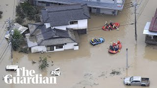 Record rainfall triggers floods and landslides in Japan