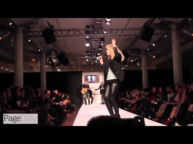 Natasha Bedingfield Performs at the Boy Meets Girl Runway Show