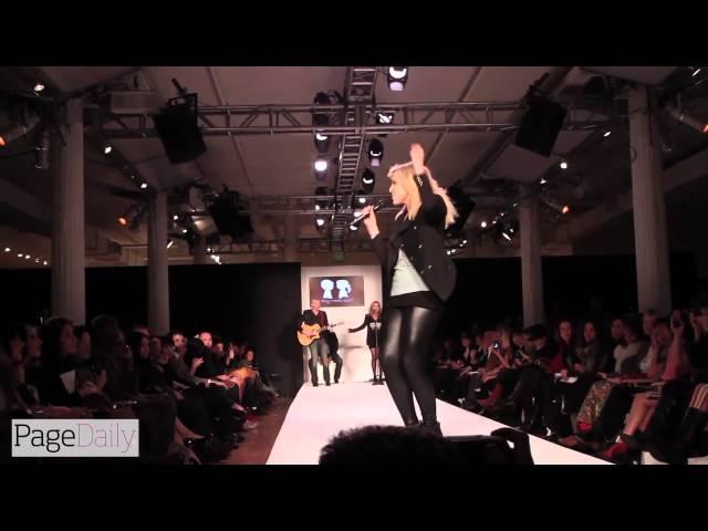 Natasha Bedingfield Performs at the Boy Meets Girl Runway Show