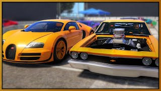 GTA 5 Roleplay - 'MONSTER' drag car 'EMBARRASSES' Bugatti Veyron | RedlineRP #978