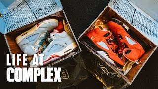 Marcus Jordan Shares Story Behind Trophyroom Air Jordan 5! | #LIFEATCOMPLEX