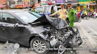 Tai nạn giữa ô tô và xe máy tại phường Ngọc Khánh - Ba Đình, 2 người tử vong | Nhật ký