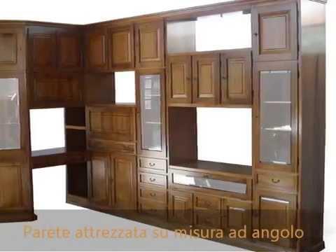 Produzione pareti attrezzate ,librerie classiche su misura: mobile soggiorno ...