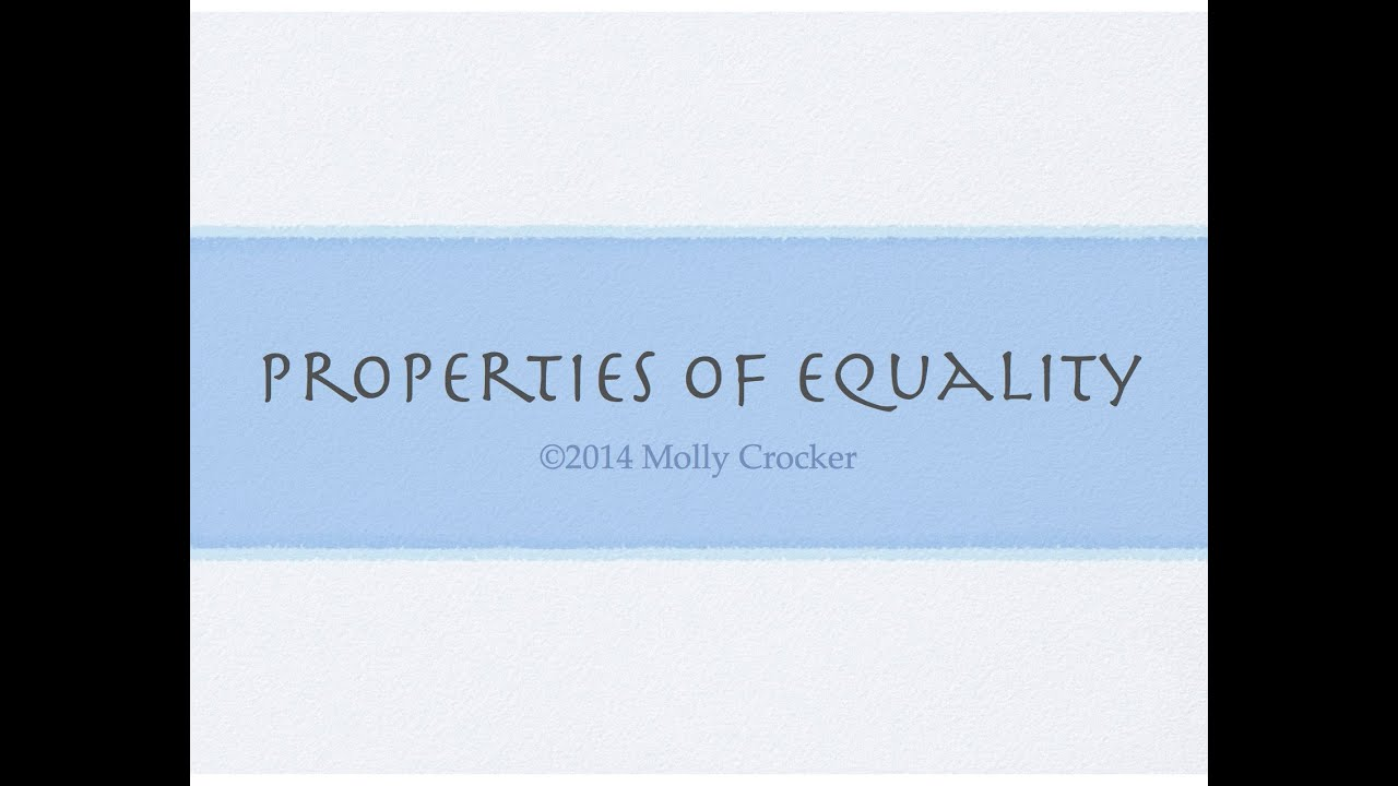 Property of Equality Geometry Properties of Equality in