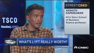 Lyft overvalued here, according to the dean of valuation, Aswath Damodaran