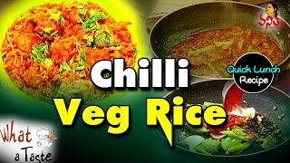 Quick Lunch : Chilli Veg Rice Recipe || Spicy Fried Rice || What A Taste || Vanitha TV