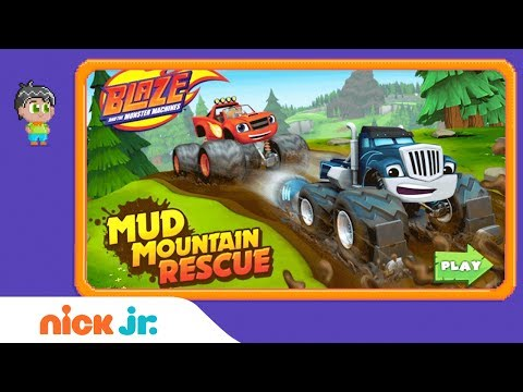 Blaze and the Monster Machines: 'Mud Mountain Rescue' Game Walkthrough   Nick Jr. Games