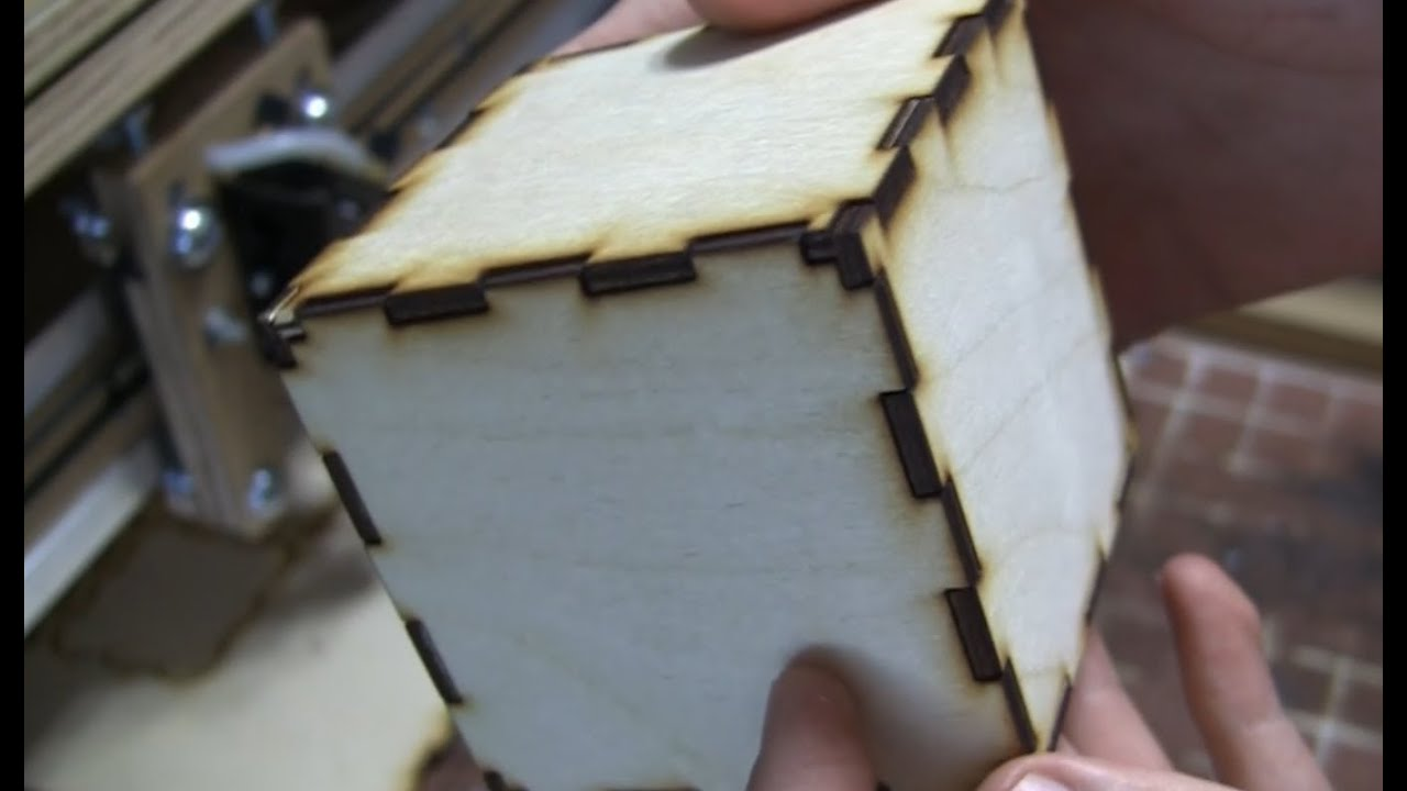 Cad To Product With A Laser Cutter Wood Cube Youtube