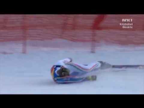 Самые страшные падения на горных лыжах - ski crash