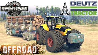 SpinTires DEUTZ Tractor Off-road Test