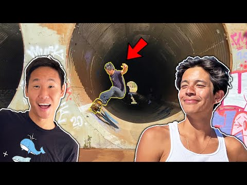 I CAN'T BELIEVE THIS SKATE SPOT EXISTS!