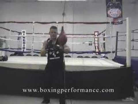 Boxing Training Defense Workout On The Double End Bag. Image 1