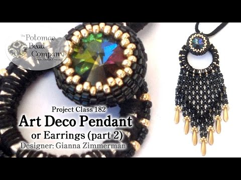 Art Deco Pendant or (earrings) - Part 2