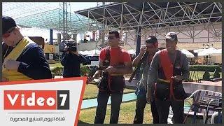 وزير الرياضة ومحافظ البنك المركزى يفتتحان البطولة الأفريقية للرماية