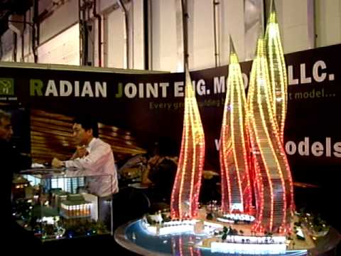 K&A Models - Dubai Lagoons Architectural Model Dynamic Lighting Effect