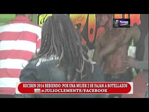 TIGUERAJE RECIBE 2014 BEBIENDO; POR UNA MUJER DOS ARMAN PLEITO A BOTELLAZOS