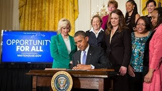 President Obama Speaks on Equal Pay for Equal Work  4/8/14 (White House)