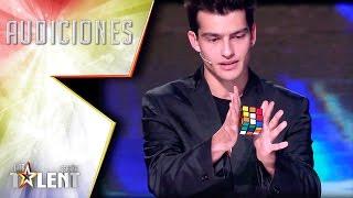 ¡Un cubo de rubik que se resuelve sin tocarlo! | Audiciones 7 | Got Talent España 2017