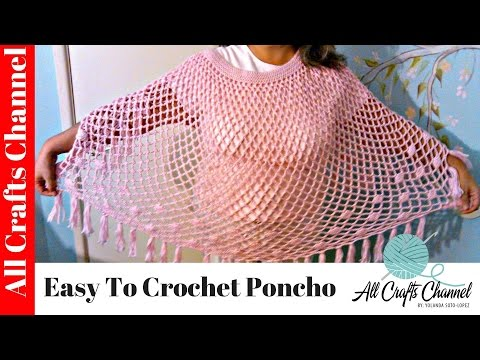 Easy to crochet poncho / poncho en crochet facil