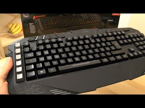 Gaming Keyboard PARTHICA from Speedlink - unboxing and demo