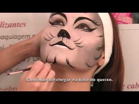 Maquiagem Artistica Passo a Passo Maquiagem Art Stica Felino