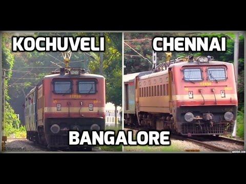 WAP4 Kochuveli Bangalore VS Bangalore Chennai Shatabdi