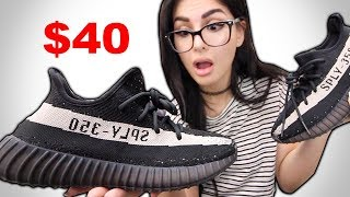 I BOUGHT $40 FAKE YEEZYS AND THEY LOOK REAL