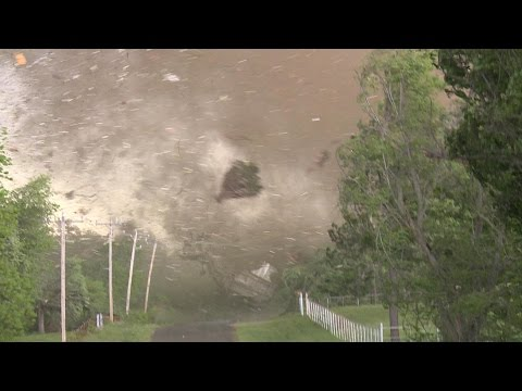 Top 5 TORNADO of ALL TIME: VIOLENT tornado takes out house!!!! : May 9, 2016 Katie, OK Tornado