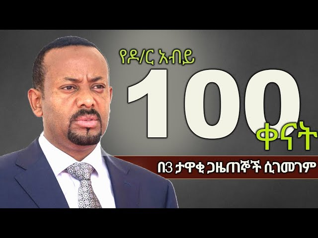 Dr Abiy Ahmed's First 100 Days as Prime Minister