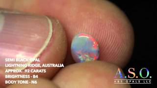 A and S Opals - Semi Black Opal