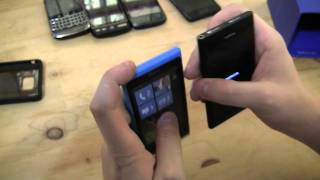 Nokia N9 Unboxing & Lumia 800 Comparison