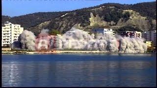 Video shpërthimi dhe momentet e rrëzimit të ndërtesës 7 katëshe në Vlorë