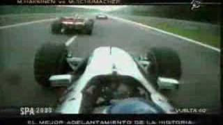 M. Hakkinen vs M. Schumacher - Spa 2000
