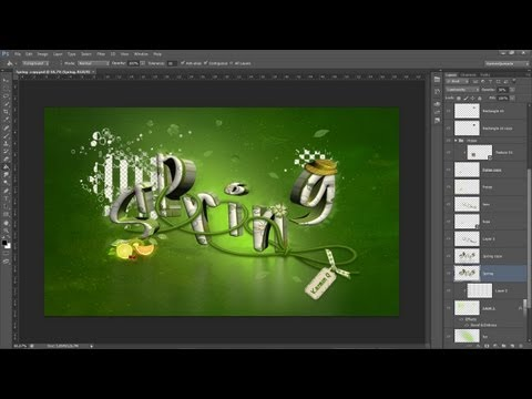 Tutorial Photoshop cs6 // Montaje tipográfico 3d (By Karmen Quesada)