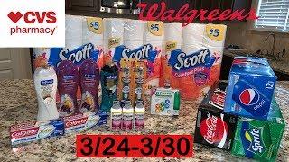 CVS + Walgreens Couponing Haul | Deals for 3/24-30