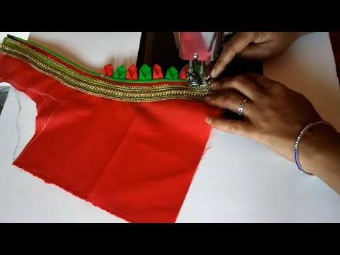 Paithani Blouse Back Neck Design Cutting and Stitching ll Model Blouse Designs At Home ll