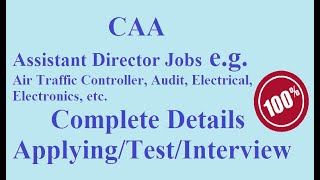 CAA Interview & Test Guide I AD Assistant Director I Recruitment I Pakistan Civil Aviation Authority